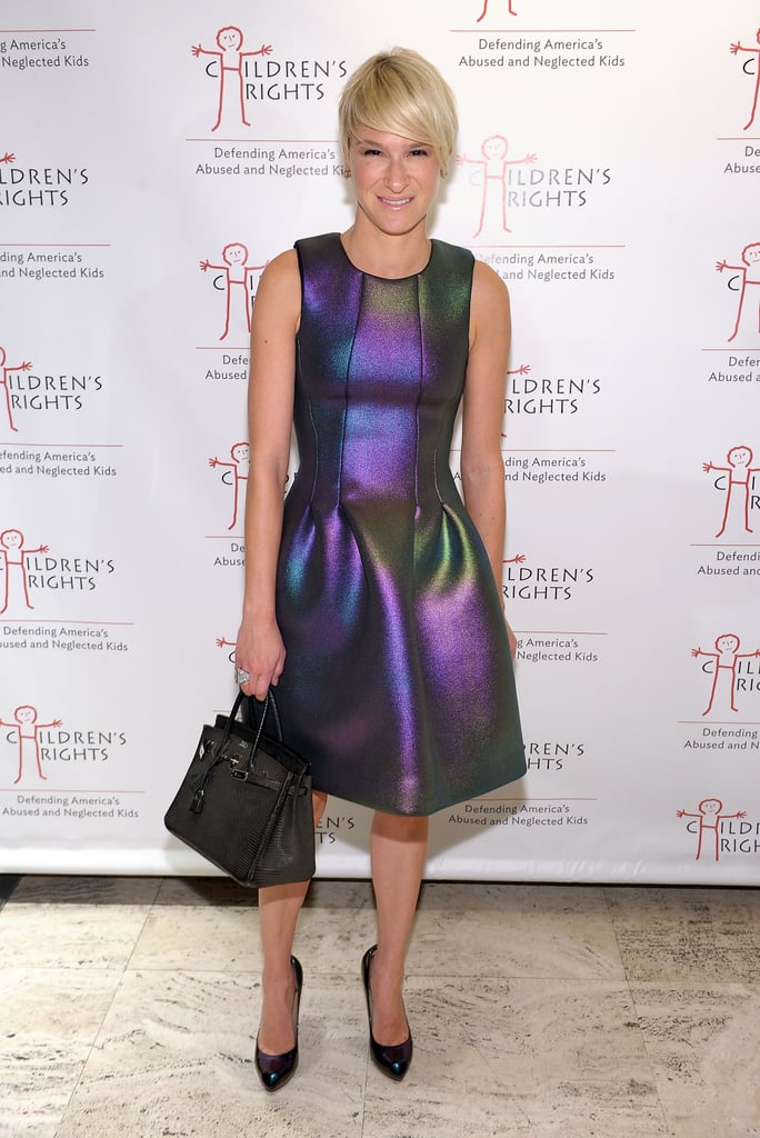 Julie Macklowe went iridescent for the annual Children's Rights Benefit at New York's Four Seasons Hotel.