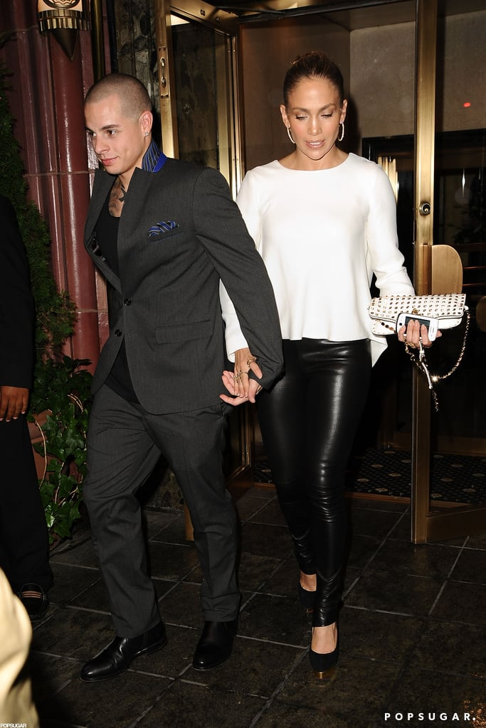 Jennifer Lopez and Casper Smart were hand in hand after a dinner date in NYC.