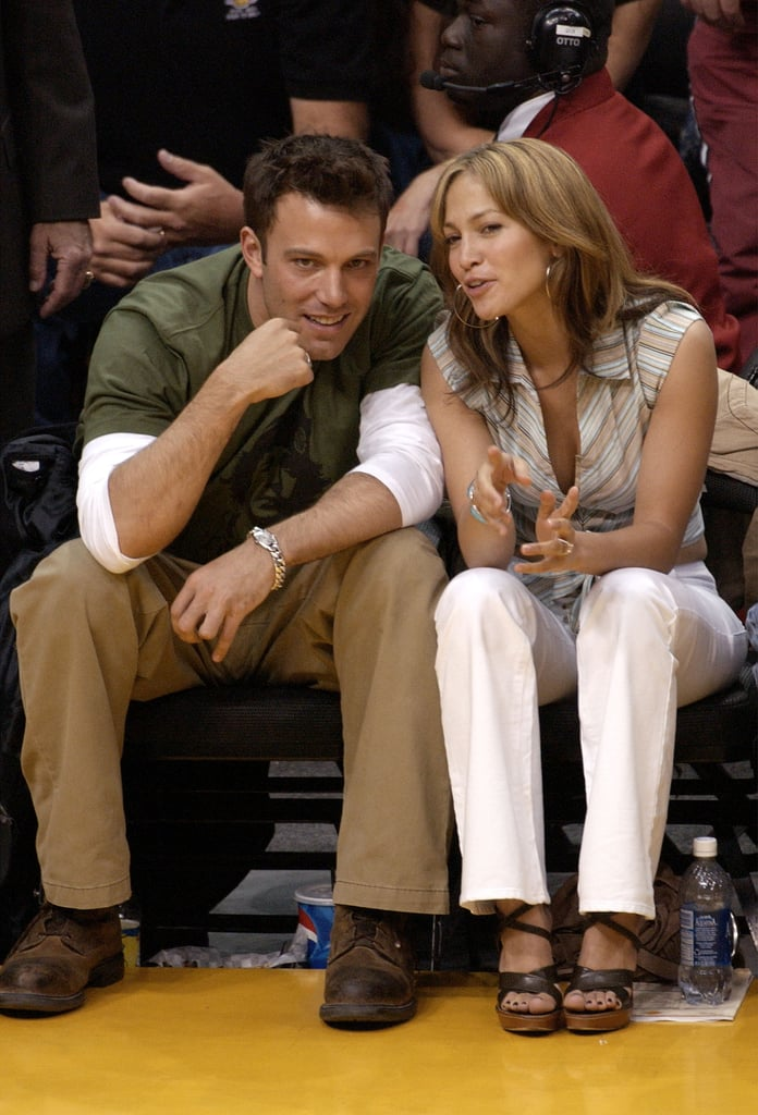 The two were super flirty at an LA Lakers game in May 2003.