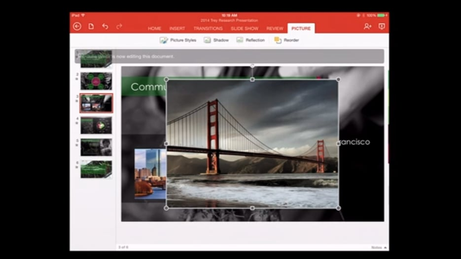 PowerPoint, Office For iPad