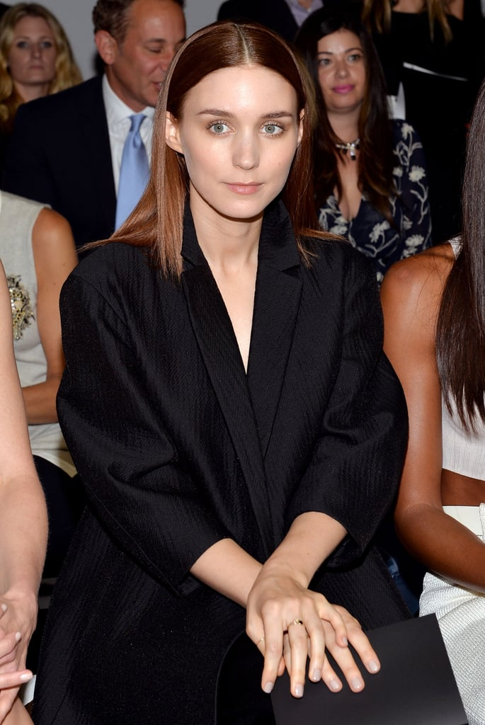 Rooney Mara was in the front row supporting Calvin Klein on Thursday.