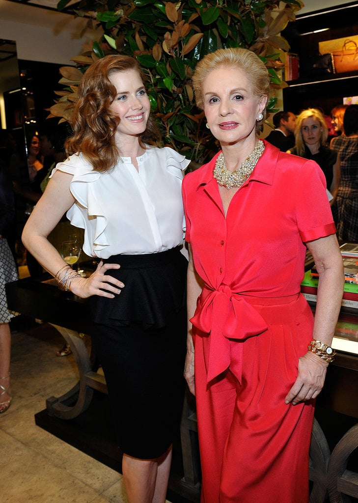 Amy Adams and Carolina Herrera made a very ladylike pair at the opening of Carolina's new boutique on Rodeo Drive in LA on June 27.