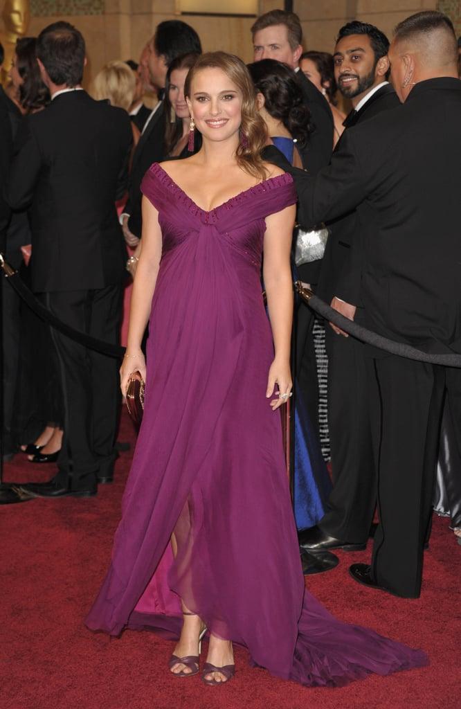 Natalie Portman in Purple Rodarte Gown at the 2011 Oscars