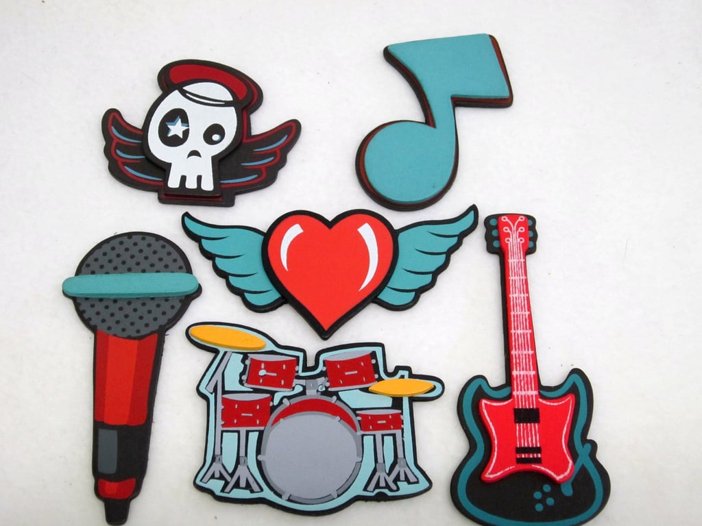 Baby-proofing can be so . . . blah. Liven things up a bit with these Rock and Roll Socket Covers ($15).