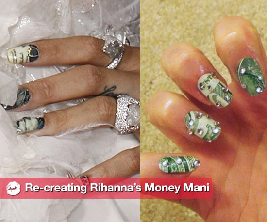 How to Make Rihanna's Money Manicure at Home