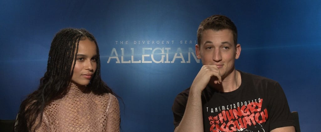 """Miles Teller on Filming Allegiant With Zoë Kravitz: """"I Just Fall More in Love With Her"""""""
