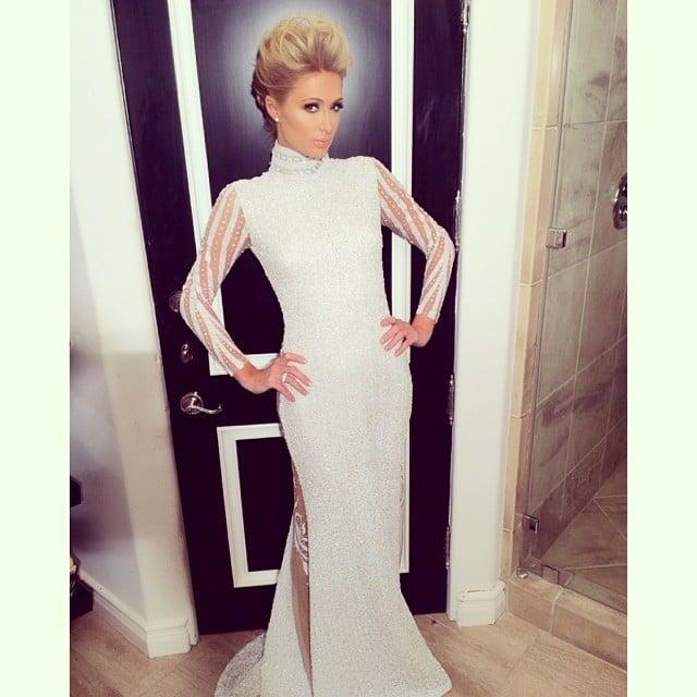 Paris Hilton struck a pose ahead of the Grammys. Source: Instagram user parishilton