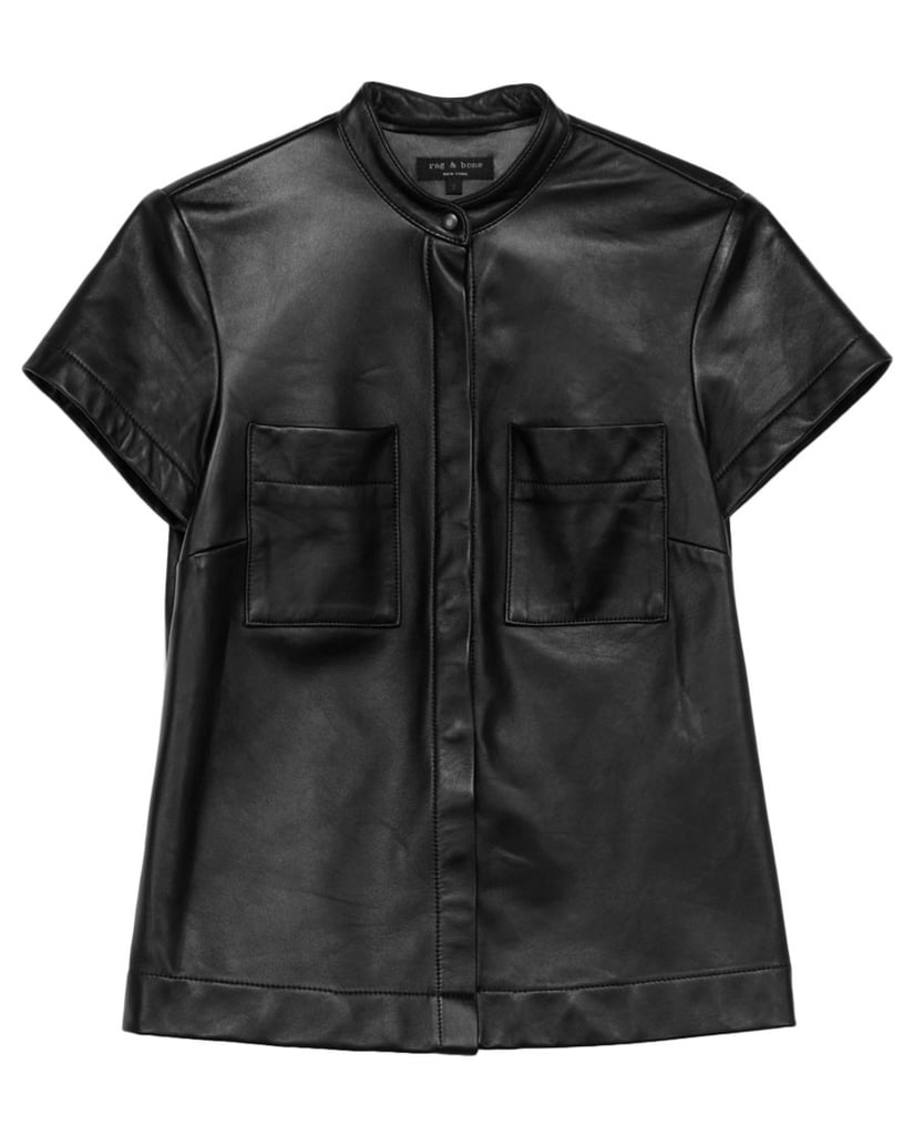 With double-breast pockets, this Rag & Bone leather shirt ($895) seems made for the chic nerd. Can we get a pocket protector or two?