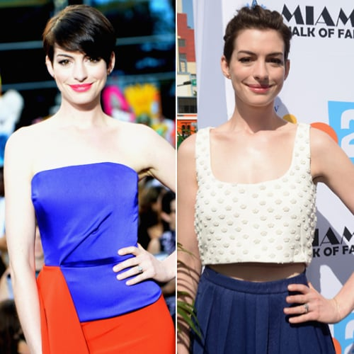 Pictures of Anne Hathaway Pixie Cut Hairstyle