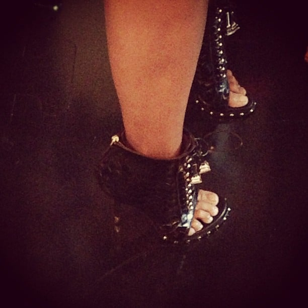 We swooned when we saw the shoes Christine Centenera was getting around in at David Jones.