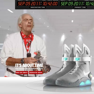 Nike MAG Back to the Future Shoe Press Pictures