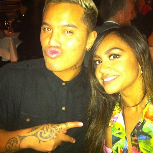 Stan Walker and Jessica Mauboy enjoyed a night out. Source: Instagram user mushroom1