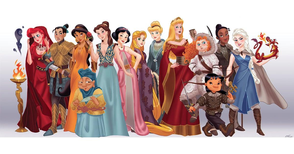 Disney Princesses as Game of Thrones Art | POPSUGAR Love & Sex
