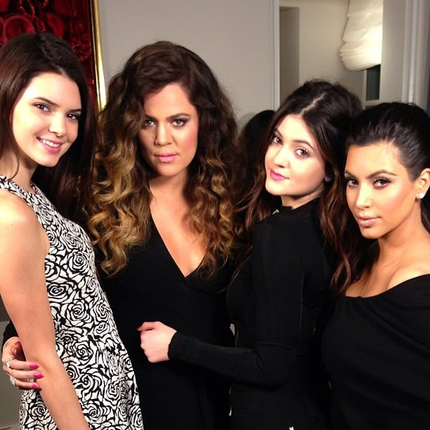 Sisters Kendall, Khloé, Kylie and Kim got together for a photo. Source: Instagram user kimkardashian