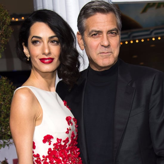 George and Amal Clooney on Hail, Caesar! Red Carpet