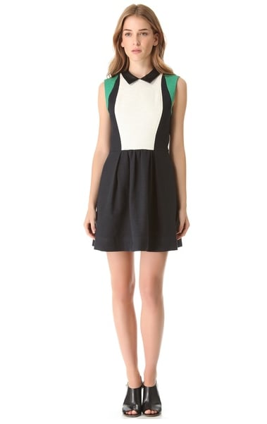 I'm a sucker for a collared dress, and this one by Sea ($449) incorporates so many of my favorite Spring trends at once. Emerald! Colorblock! Fit-and-flare! Did I mention it's perfect for work, too?  — Melissa Liebling-Goldberg