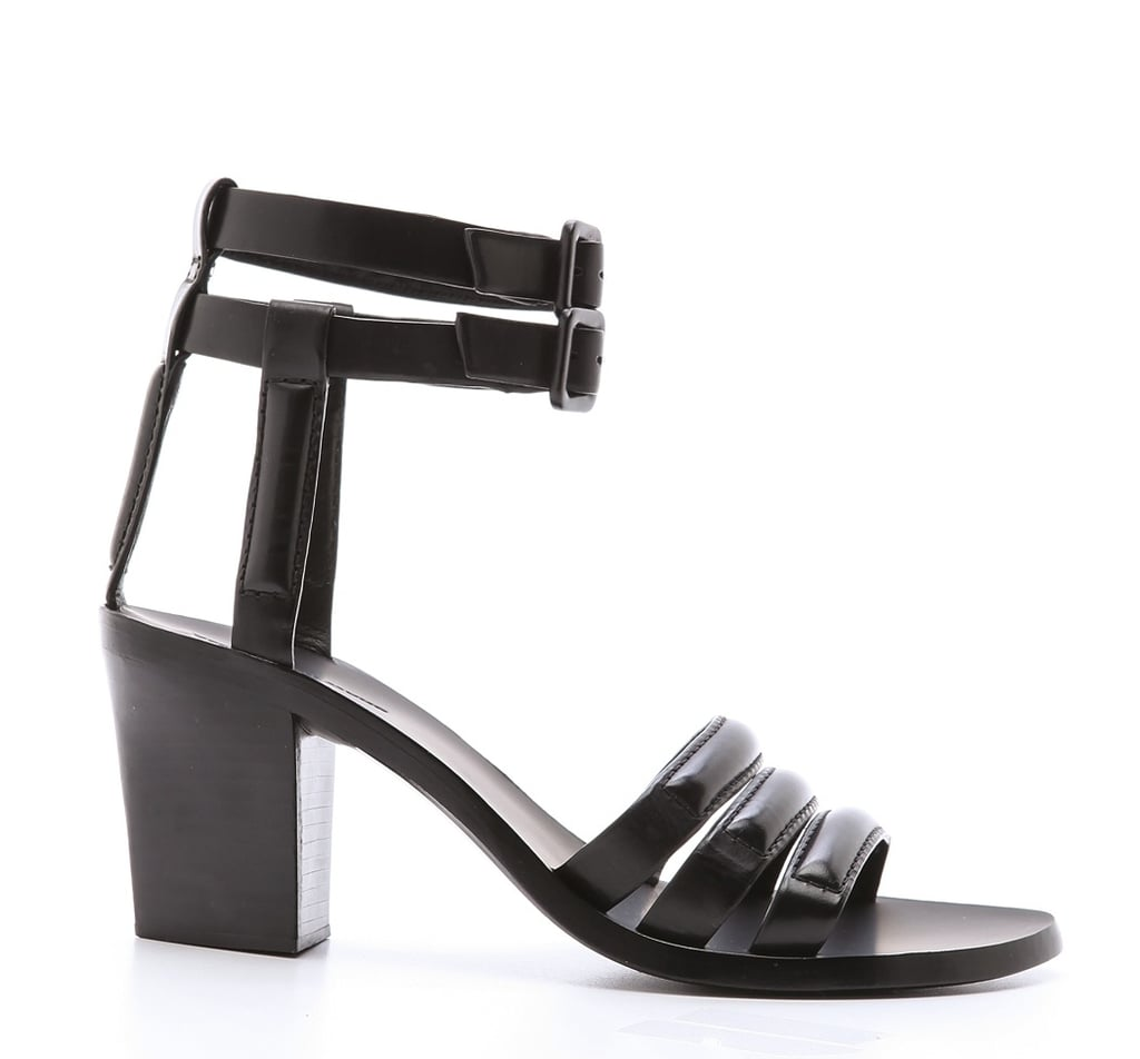 The cool girl knows that her Summer arsenal isn't complete without these sleek Alexander Wang Livia midheel sandals ($575) — now, go forth and style with the appropriate relaxed off-duty layers.