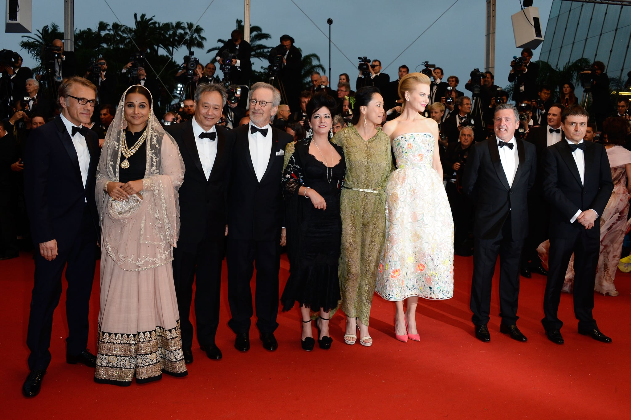 Nicole Kidman, Christoph Waltz, and Steven Spielberg posed with the 2013 Cannes Film Festival jury at the Opening Ceremony on Wednesday.
