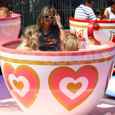Kate Moss and Daughter Lila Hack at Disneyland
