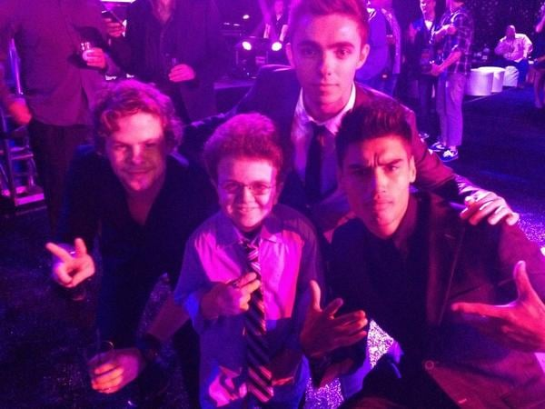 The Wanted shared a photo with a new friend. Source: Instagram user thewantedmusic