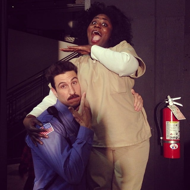 Pablo Schreiber and Danielle Brooks messed around on the set. Source: Instagram user oitnb