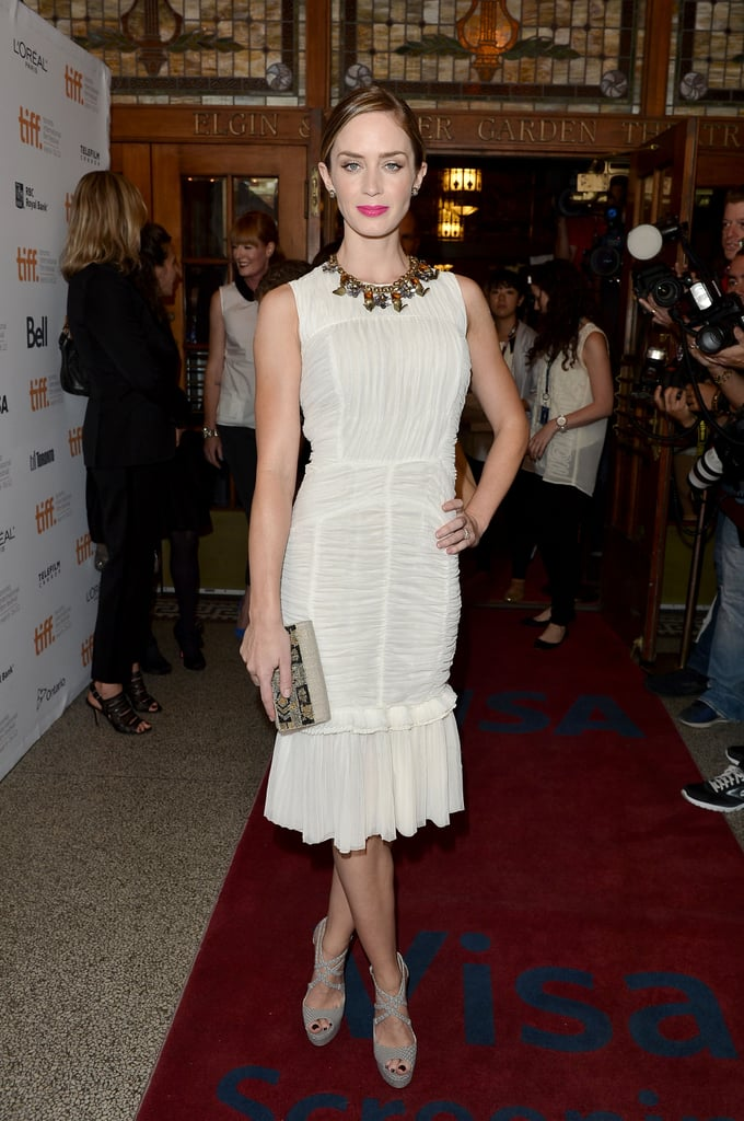 Emily Blunt looked stunning in white.