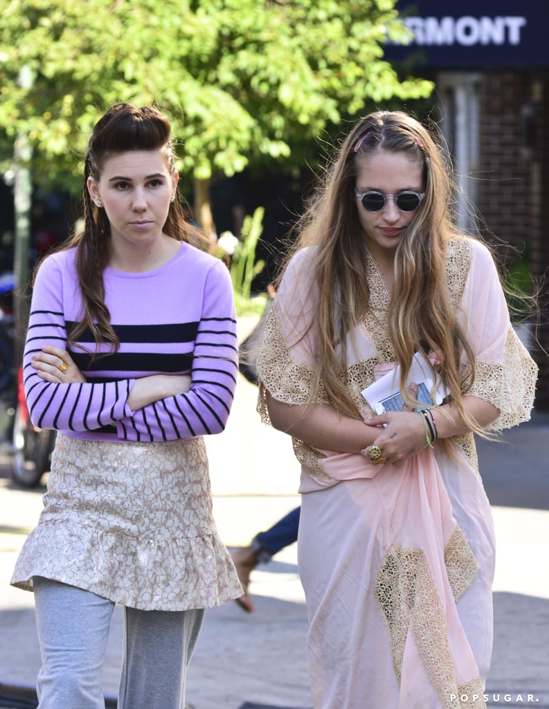 Zosia Mamet and Jemima Kirke paired up for more work on the third season of Girls in NYC on Tuesday.