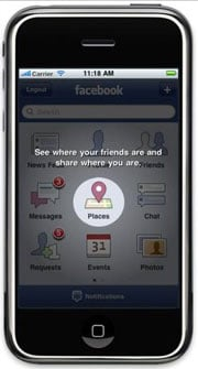 Facebook Places or Foursquare Check-Ins