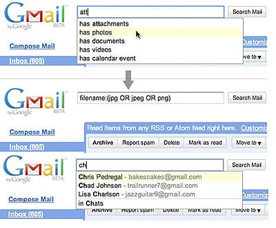 Gmail Labs Adds Search Autocomplete
