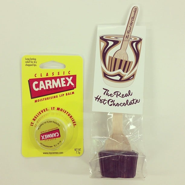 Winter saviours, come at us. Carmex lip balm and real, delicious hot chocolate.