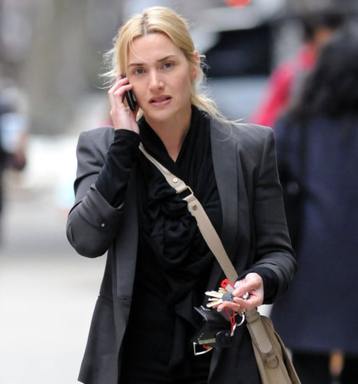 Pictures of Kate Winslet Talking on Her Cell Phone in NYC