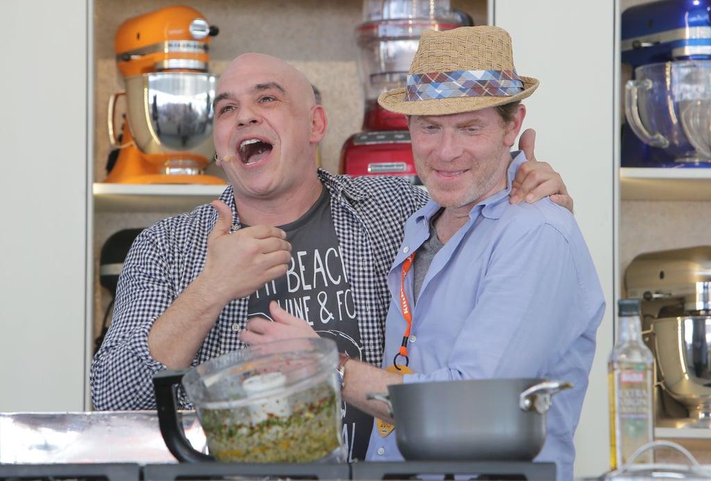 Michael Symon and Bobby Flay