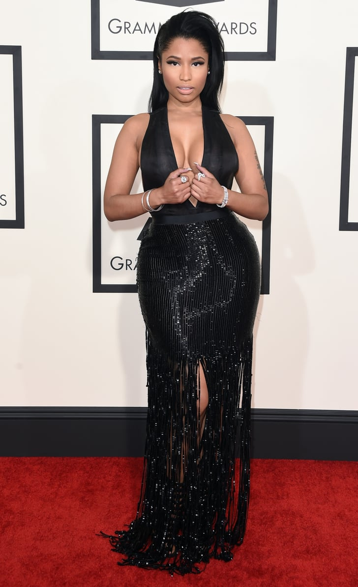 Nicki Minaj See All The Red Carpet Style At The 2015 Grammy Awards Popsugar Fashion Australia