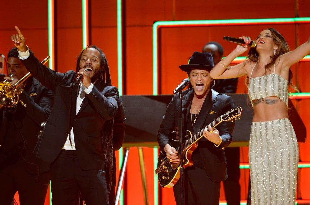 Rihanna, Bruno Mars, and Ziggy Marley performed together.