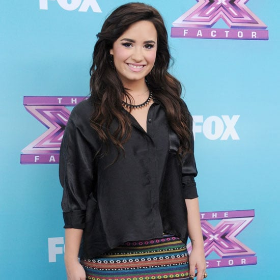 Demi Lovato Wearing Printed Skirt