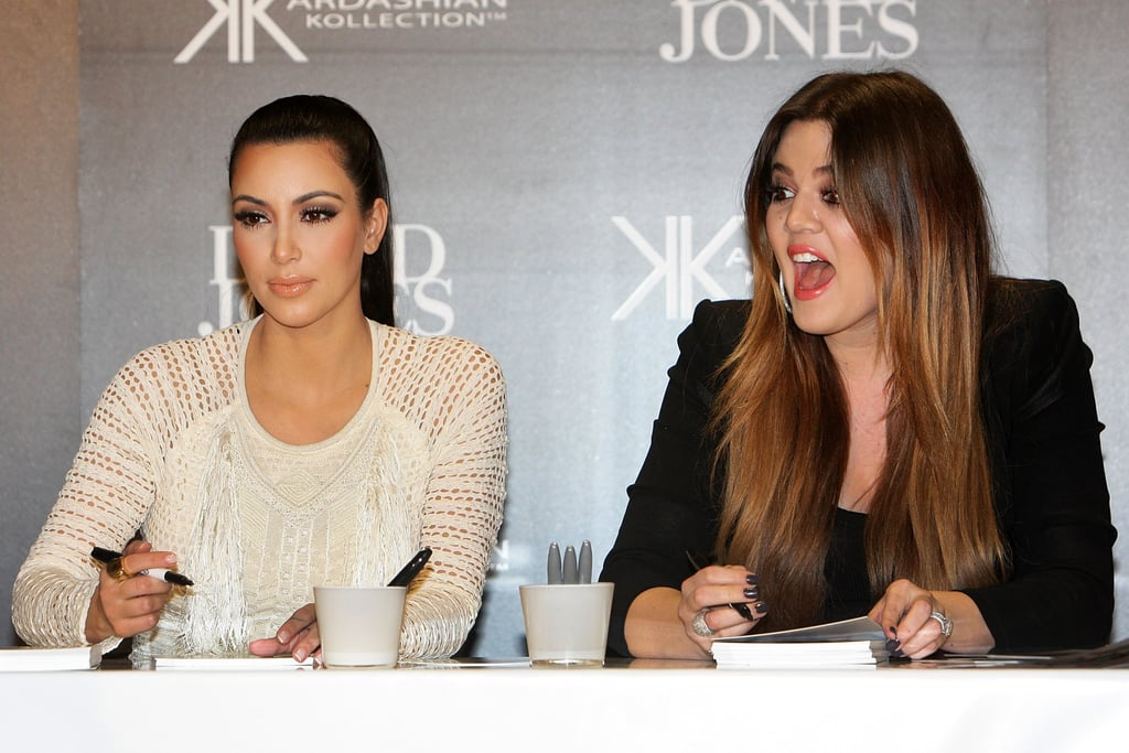 Kim and Khloe Kardashian at David Jones