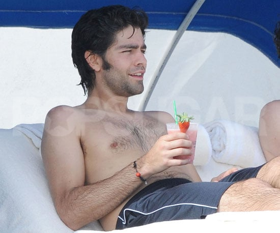 Slide Picture of Adrian Grenier Shirtless in Miami