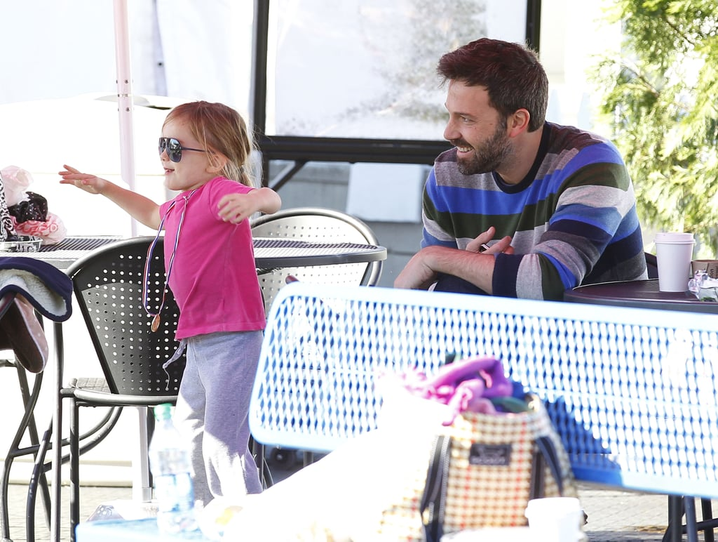 Ben Affleck laughed at Seraphina while she ran around.