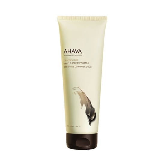 Getting my skin ready to be bared in short sleeves, skirts, and dresses means I need a little sloughing action. Ahava's DeadSea Mud Gentle Body Exfoliator ($26) is packed with skin-soothing minerals from the Dead Sea, and lava rock granules gently buff and smooth skin without irritation.  — Kaitlyn Dreyling