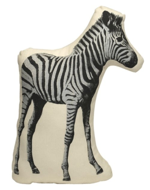 Zebra rugs may have saturated our homes' floors, but how about adding an adorable Zebra Pillow ($28) to your home instead?