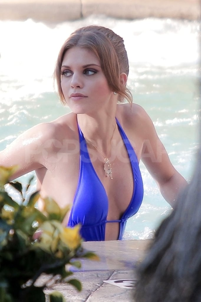AnnaLynne McCord was in a pool on the set of 90210.
