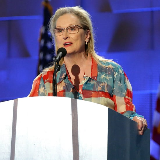 Meryl Streep American Flag Dress at DNC 2016