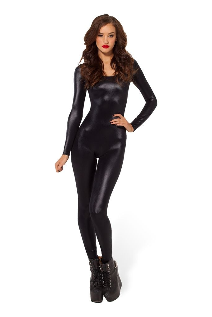 Wet look long-sleeved catsuit 2.0 ($87)