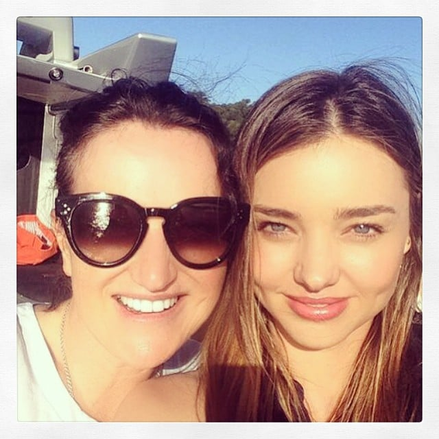 """Miranda shared a sweet moment with her mom, Therese Kerr, writing, """"Fun in the sun with Mum!"""" Source: Instagram user mirandakerr"""