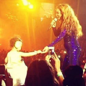 Blue Ivy at Beyonce's London Concert