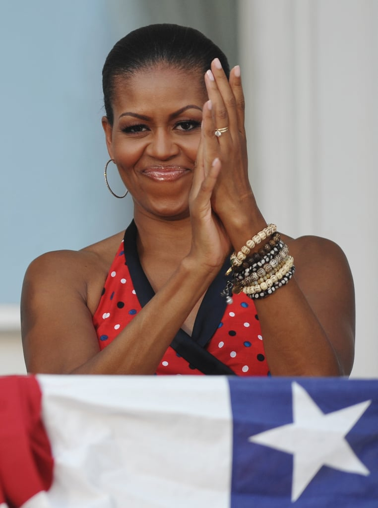 Michelle enjoyed herself during a 2010 celebration at the White House.