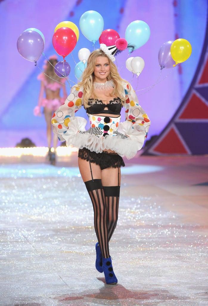 Toni Garrn was on the Victoria's Secret Fashion Show runway.