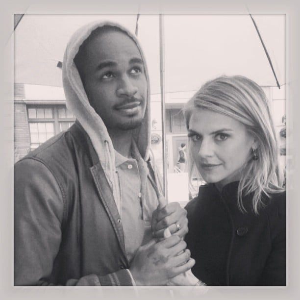 Eliza Coupe shared a picture with her Happy Endings husband, Damon Wayans Jr. Source: Instagram user elizamuthafuckincoupe