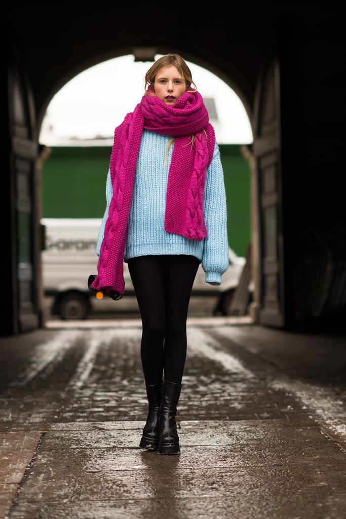 Nothing emboldens a Winter look quite like a flash of bright color.  Source: Le 21ème | Adam Katz Sinding
