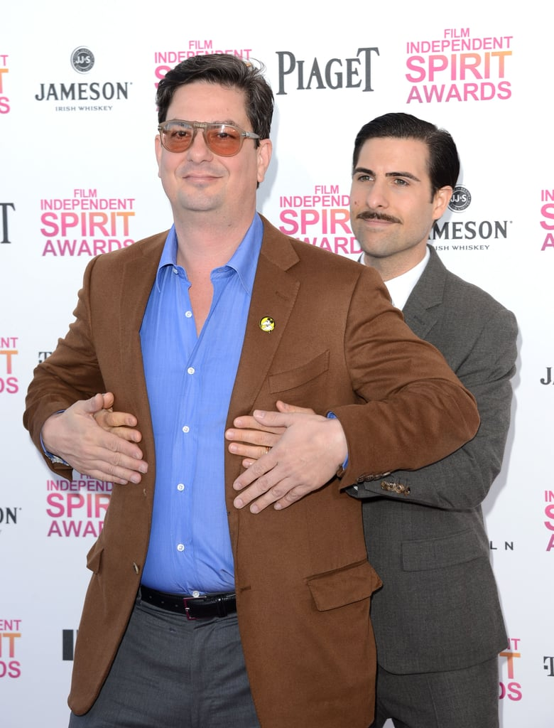 Roman Coppola and Jason Schwartzman on the red carpet at the Spirit Awards 2013.